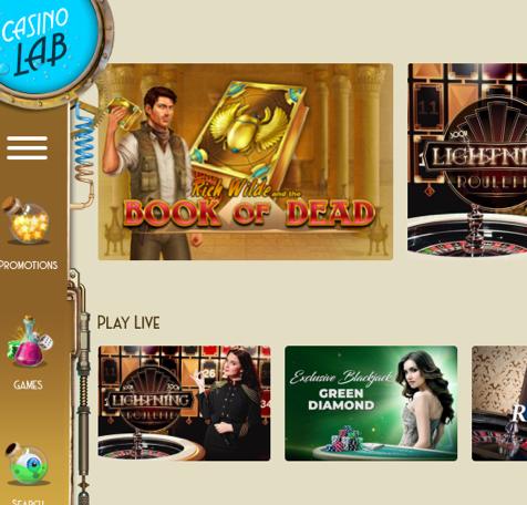 Casino lab step 4 - Get your bonus