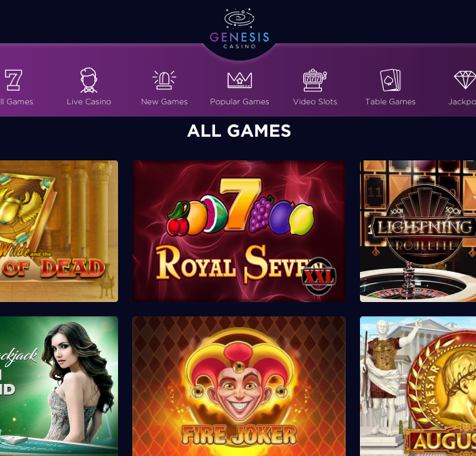 Genesis casino step 4 - Get your bonus