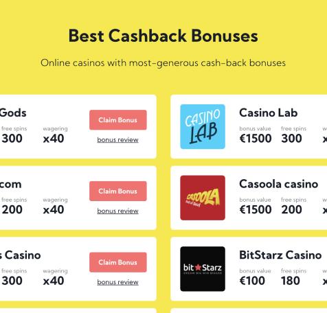 choose the right cashback casino