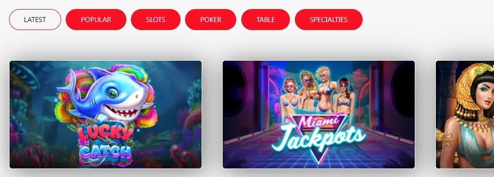 red-dog-casino-categories