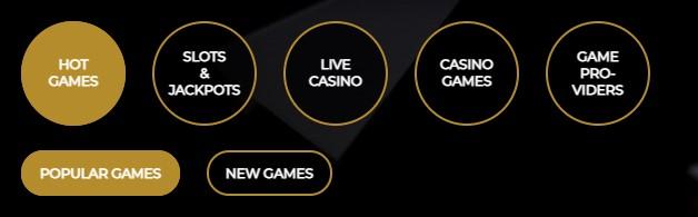 vegasoo-casino-categories
